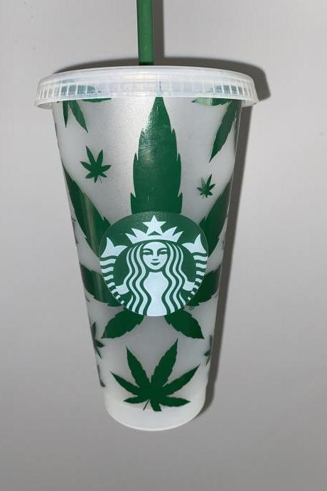 Pot Leaf Starbucks Cup, Starbucks Marijuana Cup, Weed Gift Idea, Pot Head Gift, High Maintenance, Cannabis Coffee Cup, Weed Cup