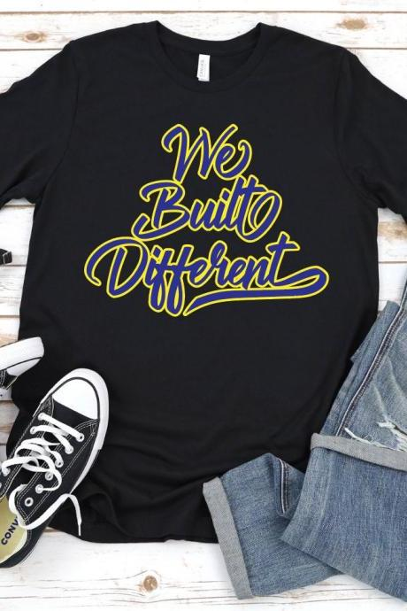 We Built Different Tshirt, Los Angeles Lakers Inspired Shirt, Lakeshow, Lebron James, Anthony Davis, LBJ, AD