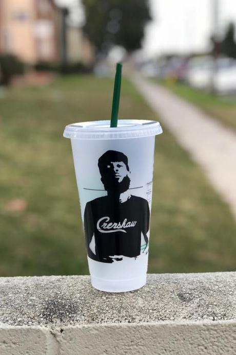 Nipsey Hussle Inspired Starbucks Venti Reusable Cup, Hip Hop Coffe Cup, Rapper, Rap, Tumbler