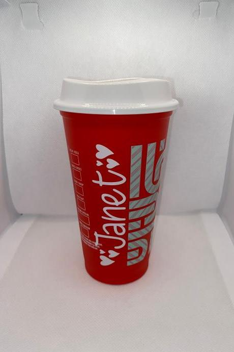 Starbucks Holiday Color Changing Hot Cups, Candy Cane Starbucks Cups, Limited Edition Tumblers, Christmas Cups