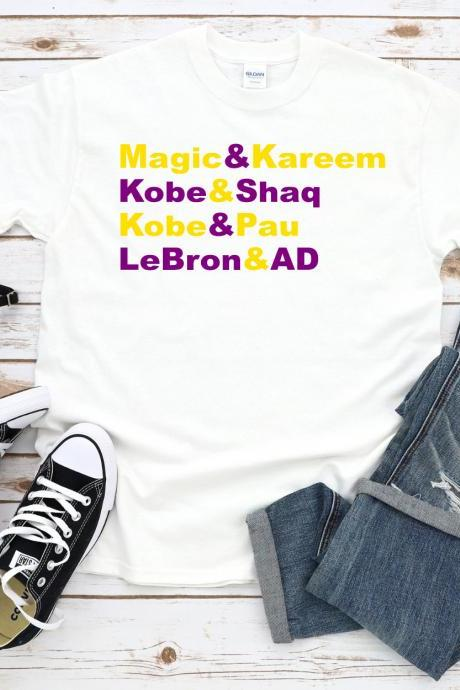 Los Angeles Lakers Inspired Shirt, Dynamic Duos Tshirt, Goats, LA, Lakeshow, Laker Greats, Legends