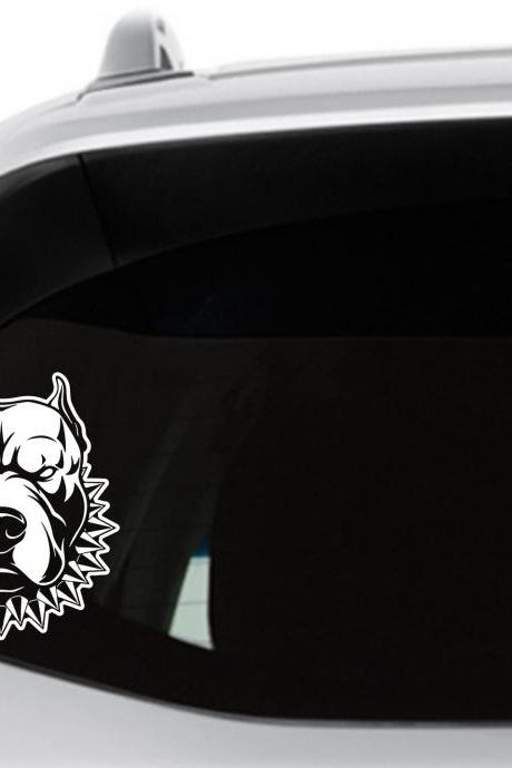 Bully Pitbull Car Decal, Pit Bull Sticker, Mean Looking Pitbull, Pit, Laptop Vinyl Decal, Window Sticker
