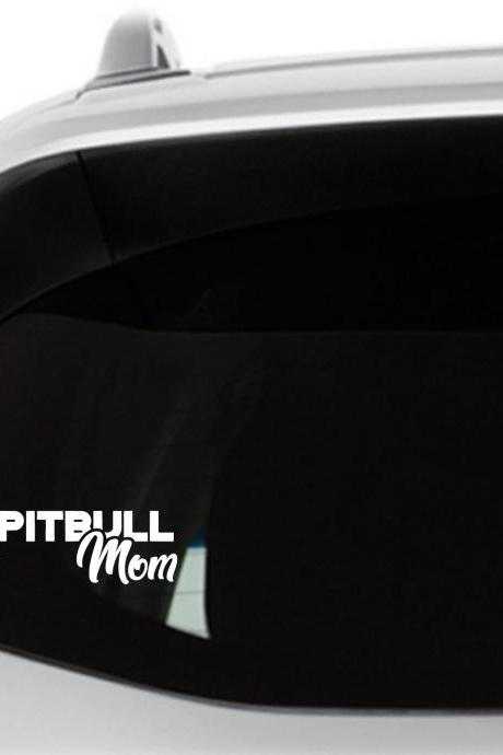 Pitbull Mom, Pitbull Dad Car Decals, Truck Decal, Dog Mom, Vinyl Decals, Window Decals, Fur Babies, Tumbler Decal